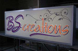 aluminium perspex lightbox with cut out perspex letters